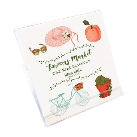 2021 Idea Chíc Farmers Market Mini 12-Month Desk Calendar - Idea Chíc
