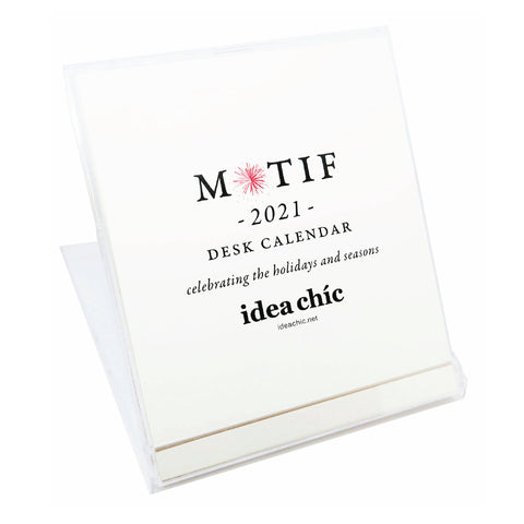2021 Idea Chíc Motif 12-Month Desk Calendar