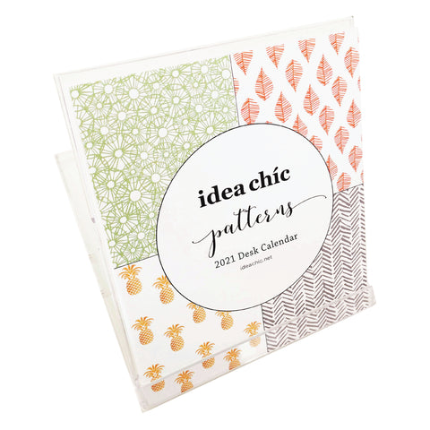 2021 Idea Chíc Patterns 12-Month Desk Calendar - Idea Chíc