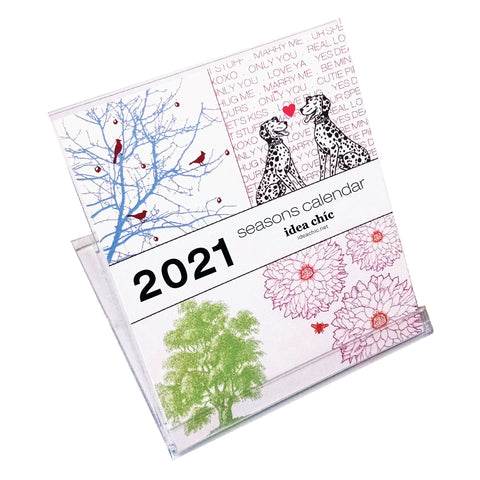 2021 Idea Chíc Seasons 12-Month Desk Calendar - Idea Chíc
