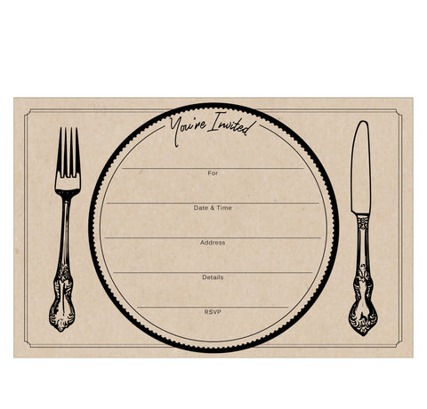 Dinner Party Fill in Invitations pack of 10 - Idea Chíc