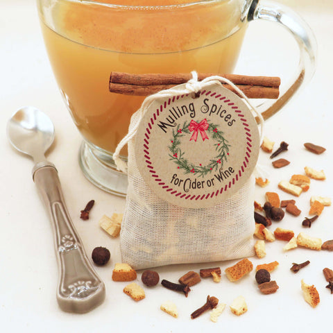 Mulling Spices Sachet - Holiday Gift For Home, Fall or Winter Wedding Favor - Idea Chíc