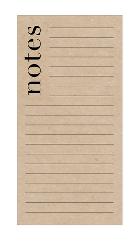 Chic Notes Notepad on Kraft Paper - Idea Chíc