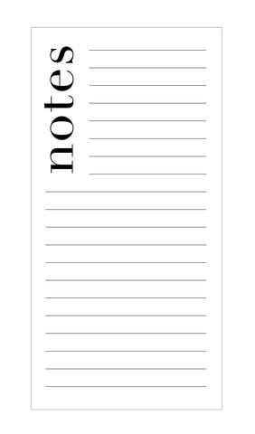 Chic Notes Notepad on White Paper