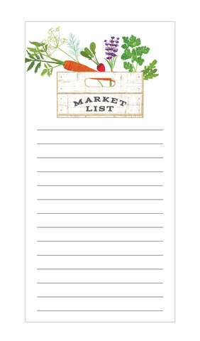 Veggie and Herb Crate Market List Notepad