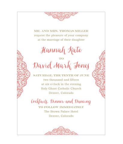 Vintage Flourish Wedding Invitation - Idea Chíc