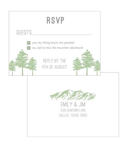 Alpine Gondola Ski Pass Colorado Wedding Invitation - IdeaChic  - 2