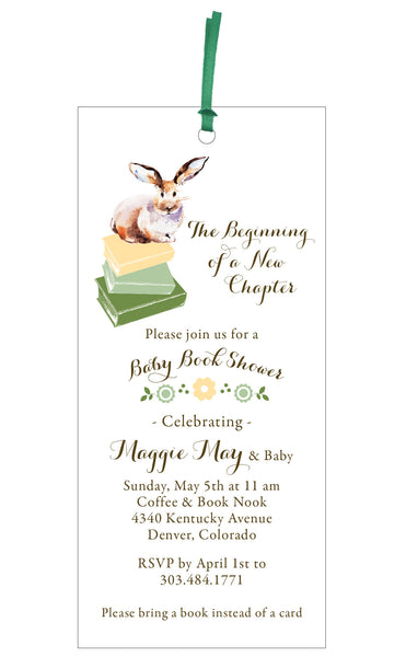 Baby Book Shower Invitation and Bookmark Gift - IdeaChic  - 2