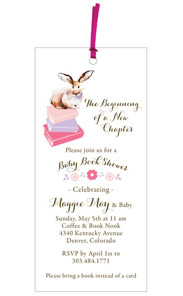 Baby Book Shower Invitation and Bookmark Gift - IdeaChic  - 1