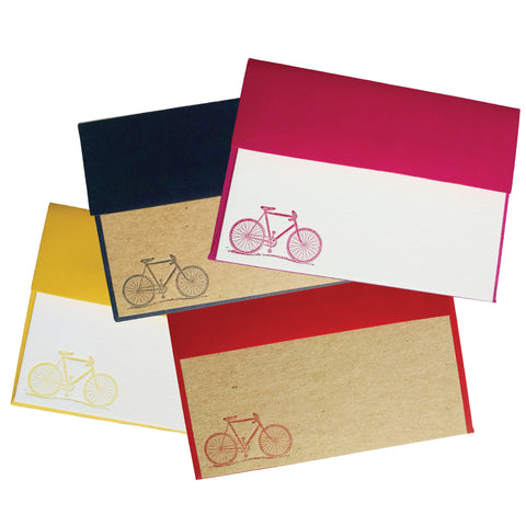 Bike Motif Letterpress Stationery - Idea Chíc