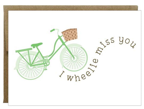 I Wheelie Miss You Greeting Card - Idea Chíc