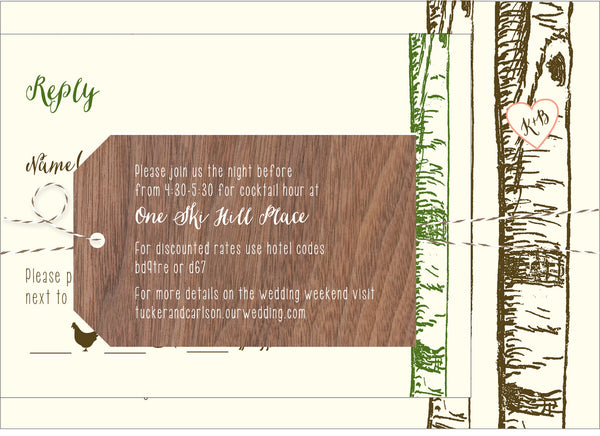Birch Aspen Tree Wedding Invitation Collection - Idea Chíc