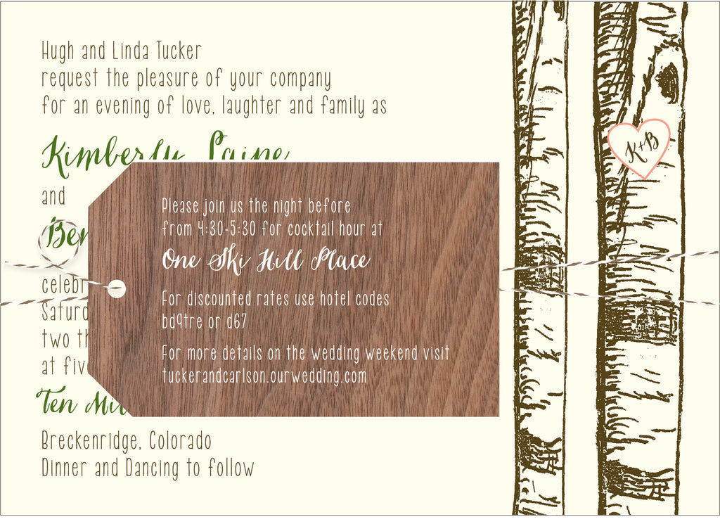 Birch Aspen Tree Wedding Invitation Collection | Idea Chíc