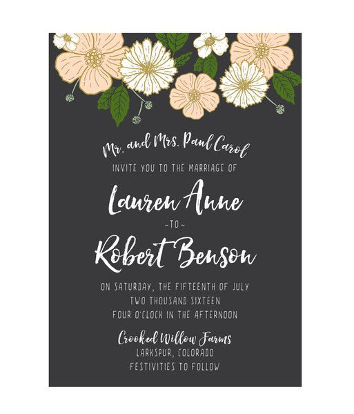Bold Floral Wedding Invitation Collection - IdeaChic  - 2