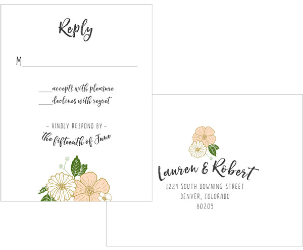 Bold Floral Wedding Invitation Collection - IdeaChic  - 4