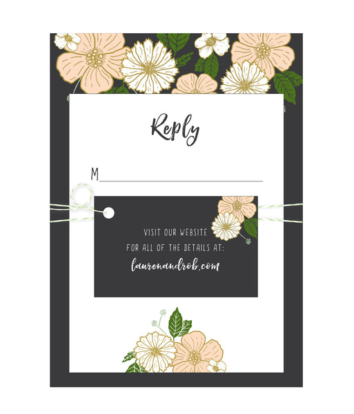 Bold Floral Wedding Invitation Collection - IdeaChic  - 3