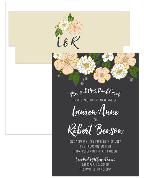 Bold Floral Wedding Invitation Collection - IdeaChic  - 6