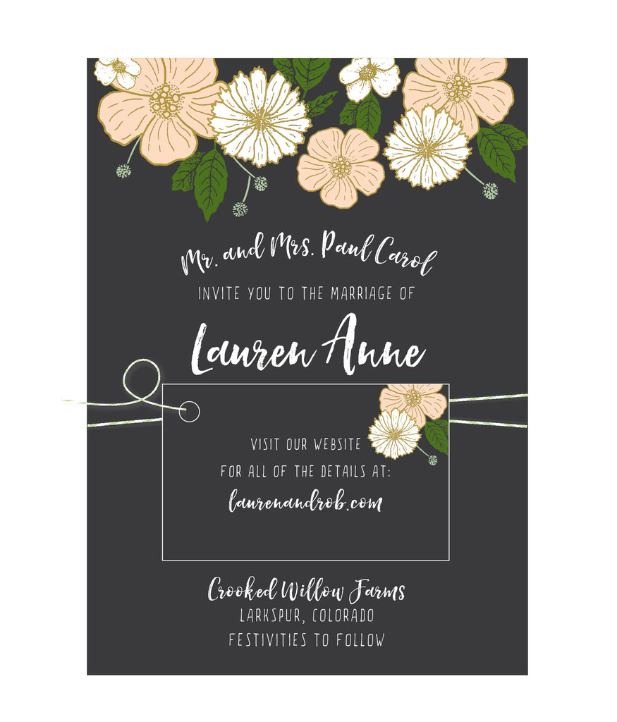 Bold Floral Wedding Invitation Collection - IdeaChic  - 1