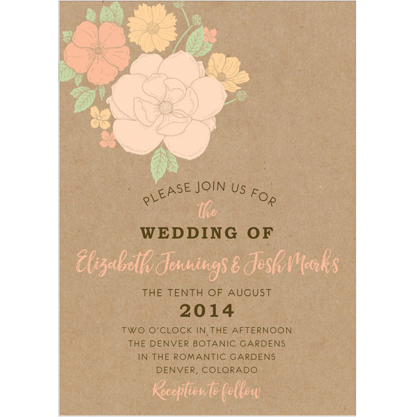 Floral Bouquet Wedding Invitation Collection - IdeaChic  - 1