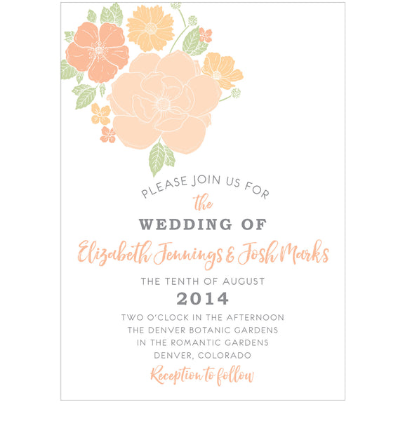 Floral Bouquet Wedding Invitation Collection - IdeaChic  - 6