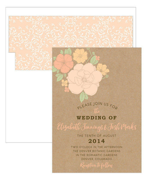 Floral Bouquet Wedding Invitation Collection - Idea Chíc