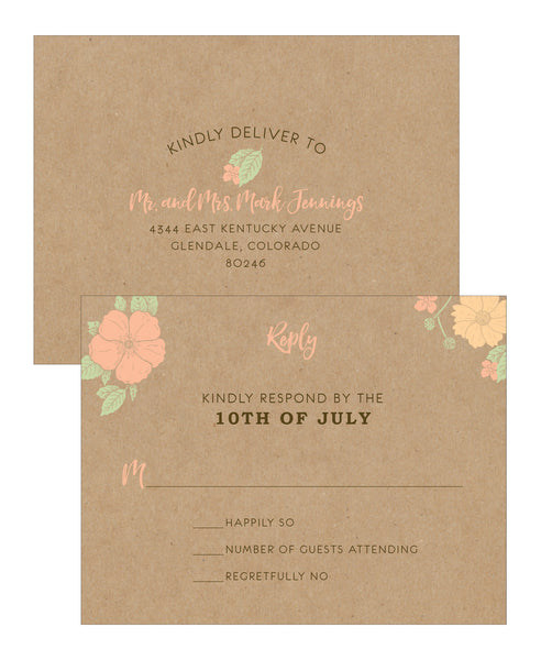 Floral Bouquet Wedding Invitation Collection - IdeaChic  - 3