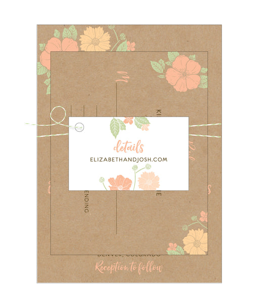 Floral Bouquet Wedding Invitation Collection - IdeaChic  - 2