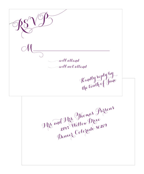Handwritten Calligraphy on a Slant Wedding Invitation Collection - IdeaChic  - 3