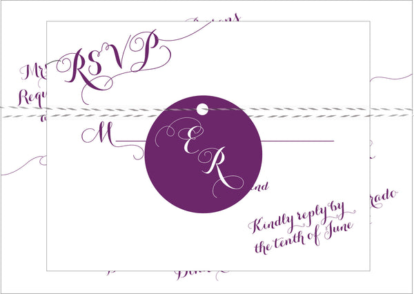 Handwritten Calligraphy on a Slant Wedding Invitation Collection - IdeaChic  - 5