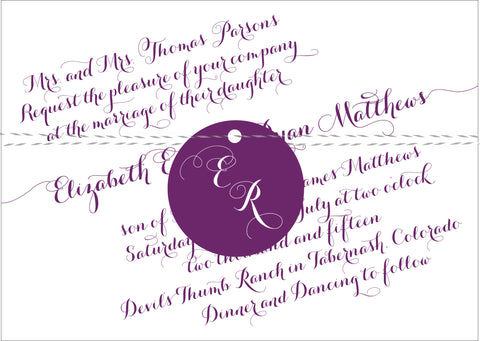 Handwritten Calligraphy on a Slant Wedding Invitation Collection - IdeaChic  - 1