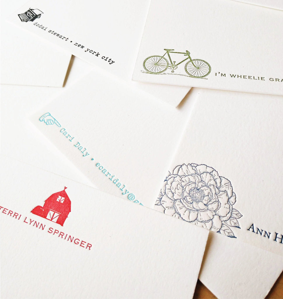 Custom Motif Personalized Letterpress Stationery Notes - Idea Chíc