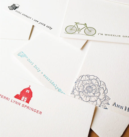 Custom Letterpress Social Stationery - Idea Chíc