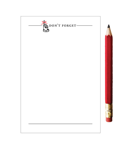 Don't Forget Notepad with Red Pencil - Idea Chíc