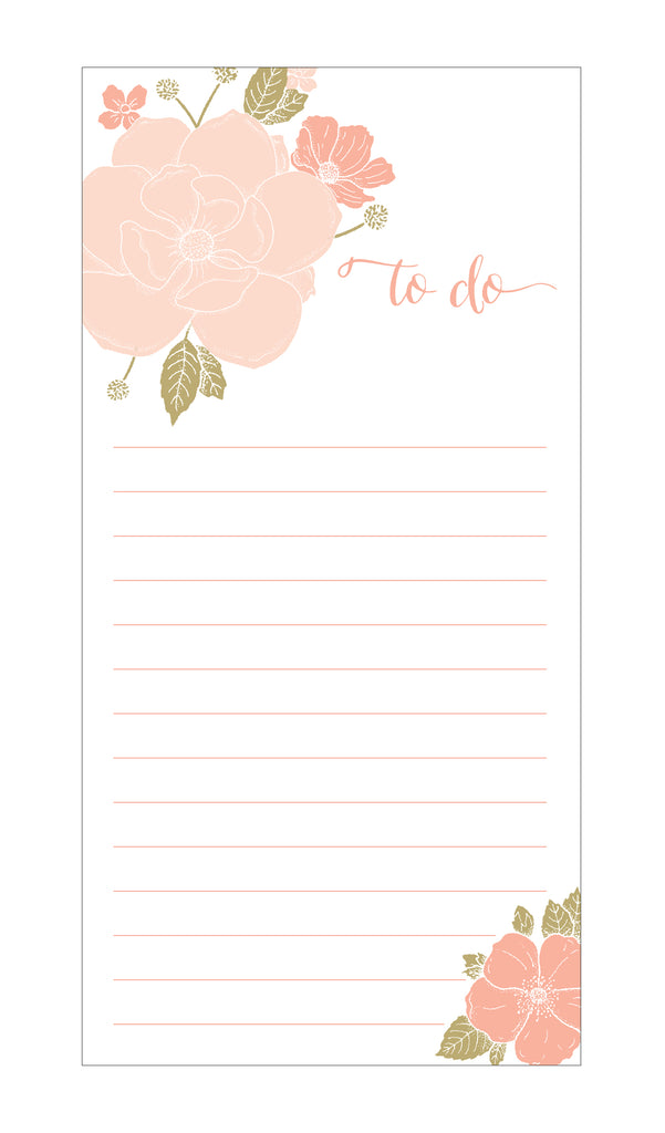 Floral Bouquet to do Notepad on White Paper - Idea Chíc