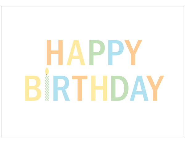 Happy Birthday Candle Postcards - Set of 10 - Idea Chíc