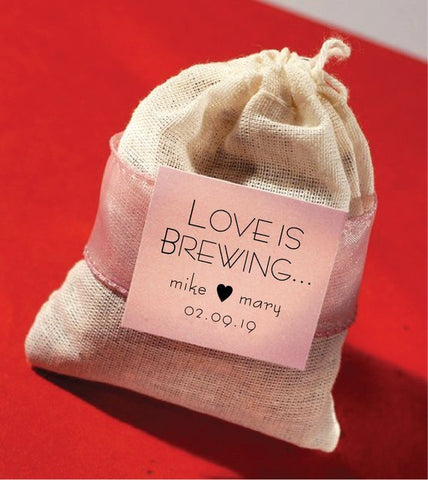 Love is Brewing Tea Bag Wedding Favor | sets of 9 - Idea Chíc