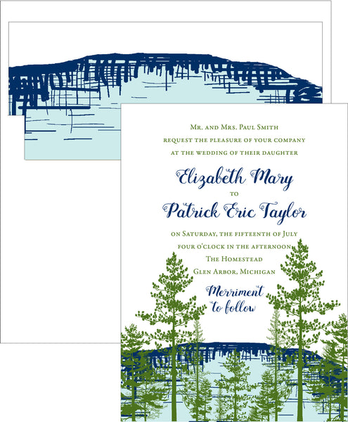 Lake View Wedding Invitation Suite - Idea Chíc