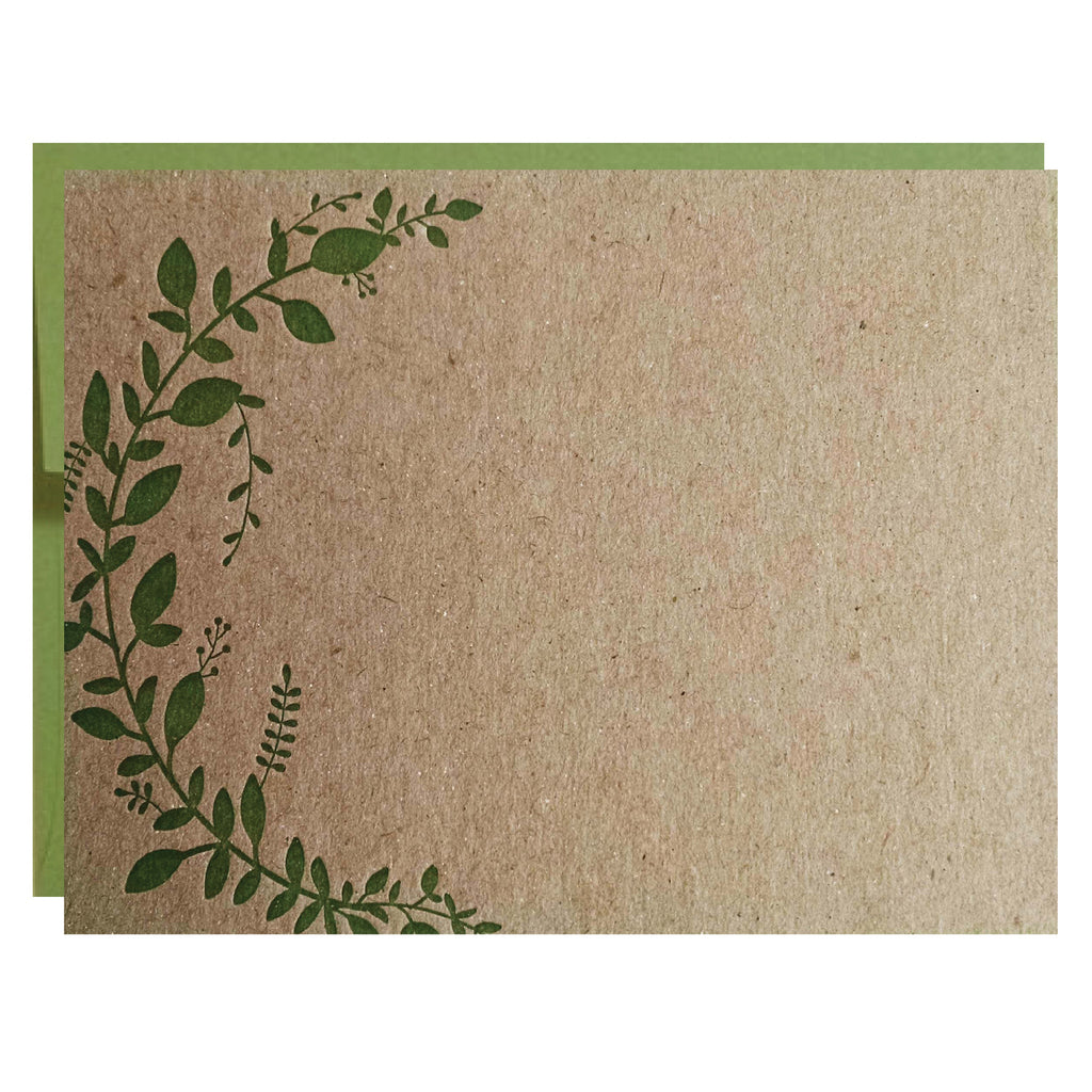 Leaf Vine Letterpress Card - 5 pack - Idea Chíc