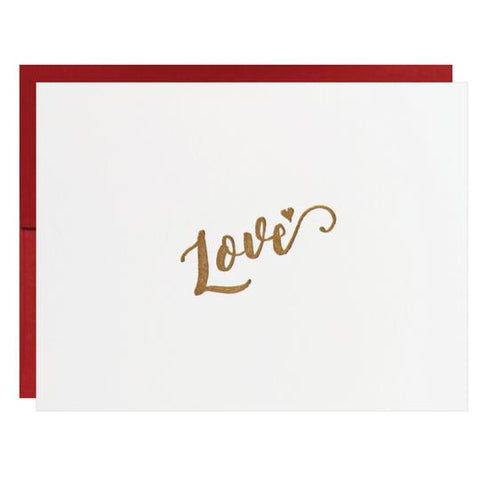 Love Letterpress Greeting Card - Idea Chíc