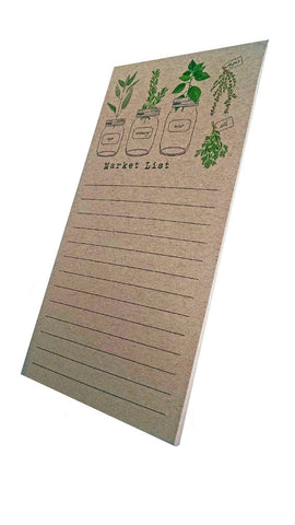 Herb Garden Market List Notepad on Kraft Paper - IdeaChic  - 1