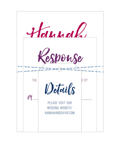 Chic Water Color Wedding Invitation suite - IdeaChic  - 1