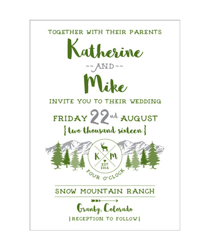 Mountain Camp Wedding Invitation Collection - IdeaChic  - 1