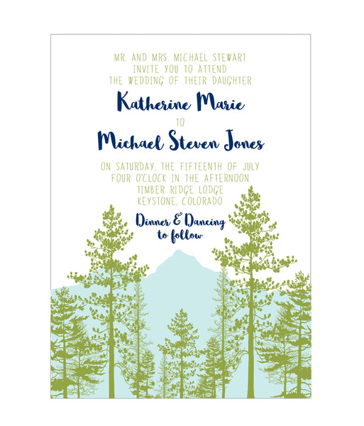 Mountain View Wedding Invitation Suite - Idea Chíc