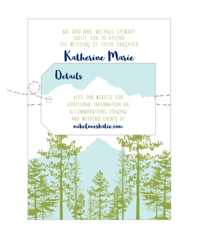 Mountain View Wedding Invitation Suite - IdeaChic  - 1