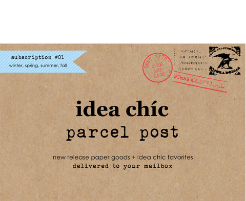 Idea Chíc Parcel Post Annual Subscription - Idea Chíc