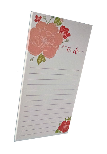 Floral Bouquet to do Notepad on White Paper - IdeaChic  - 1