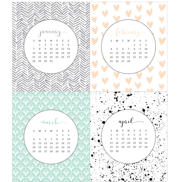 2020 Idea Chíc Patterns Desk Calendar - Idea Chíc