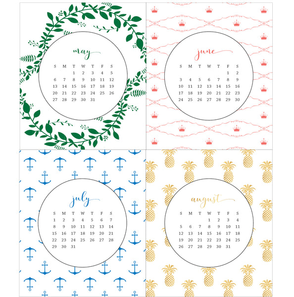 2019 Idea Chíc Patterns Desk Calendar - Idea Chíc