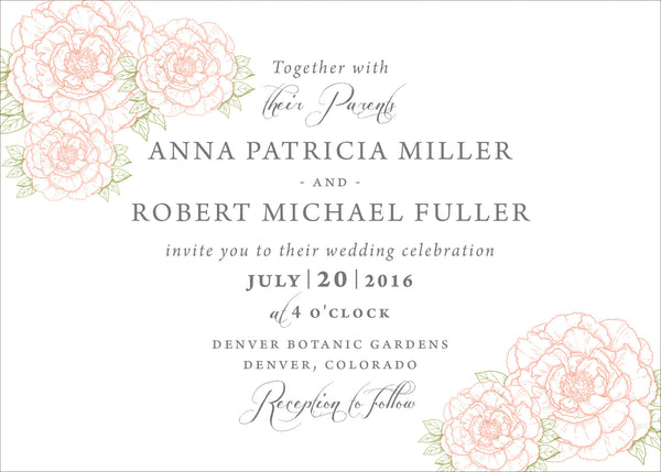 Peony Wedding Invitation Collection - IdeaChic  - 2