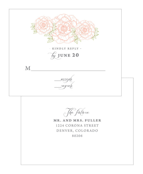 Peony Wedding Invitation Collection - IdeaChic  - 4